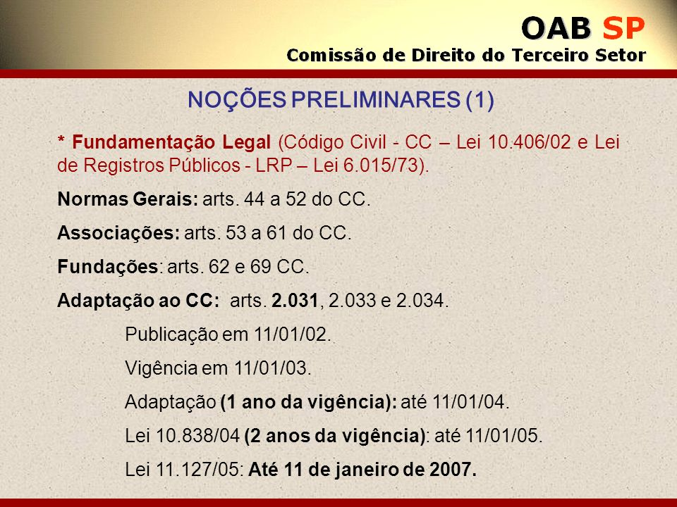 NOÇÕES PRELIMINARES (1)