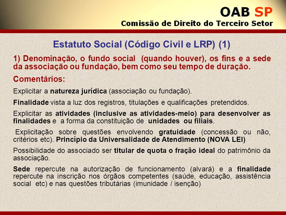 Estatuto Social (Código Civil e LRP) (1)