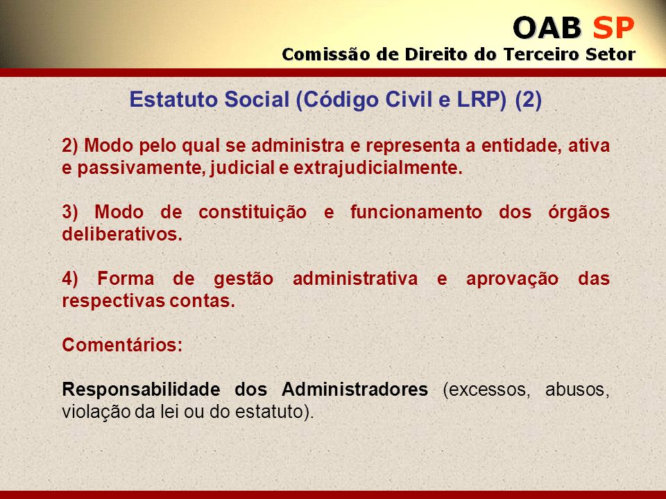 Estatuto Social (Código Civil e LRP) (2)