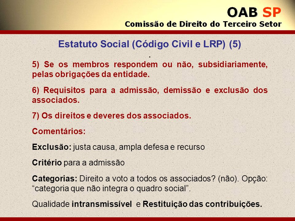 Estatuto Social (Código Civil e LRP) (5)