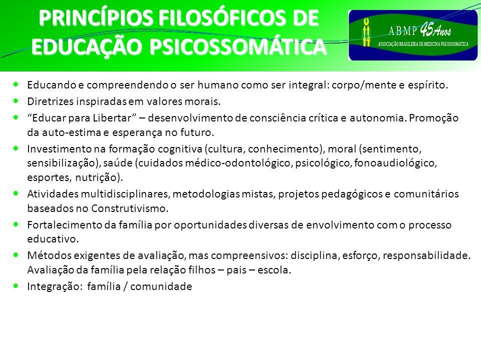 PRINCÍPIOS FILOSÓFICOS DE EDUCAÇÃO PSICOSSOMÁTICA
