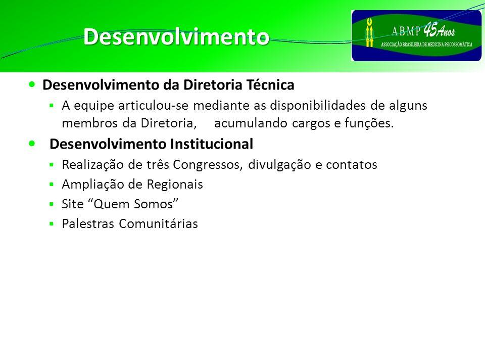 Desenvolvimento Desenvolvimento da Diretoria Técnica