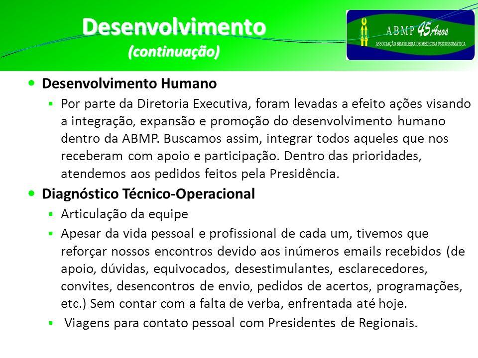 Desenvolvimento (continuação) Desenvolvimento Humano