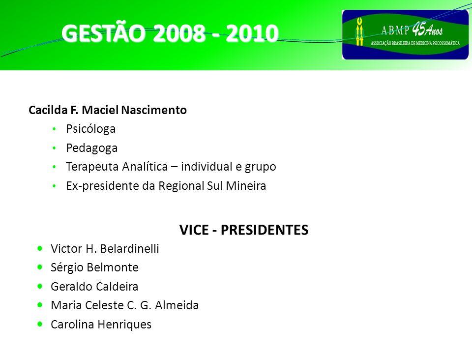 GESTÃO 2008 - 2010 PRESIDENTE VICE - PRESIDENTES
