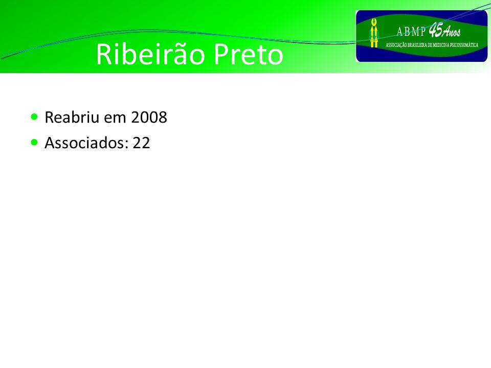 Ribeirão Preto Reabriu em 2008 Associados: 22