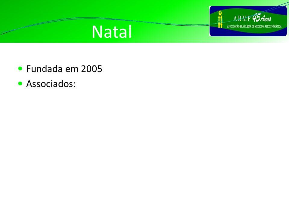 Natal Fundada em 2005 Associados: