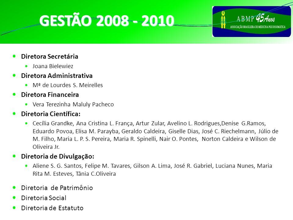 GESTÃO 2008 - 2010 DIRETORES Diretora Secretária