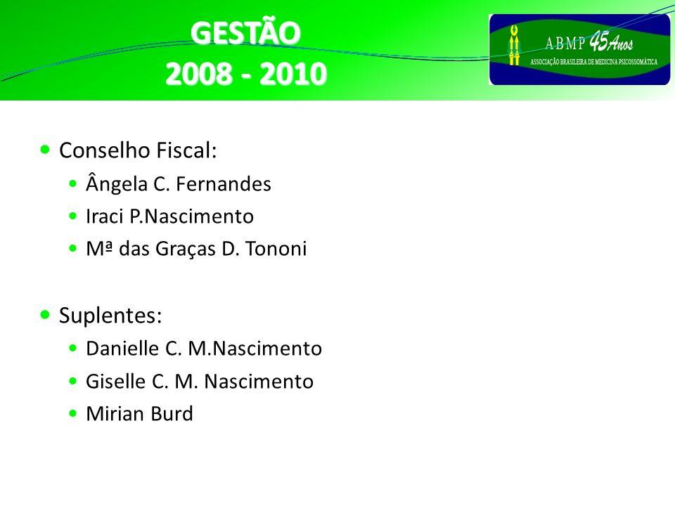 GESTÃO 2008 - 2010 Conselho Fiscal: Suplentes: CONSELHO