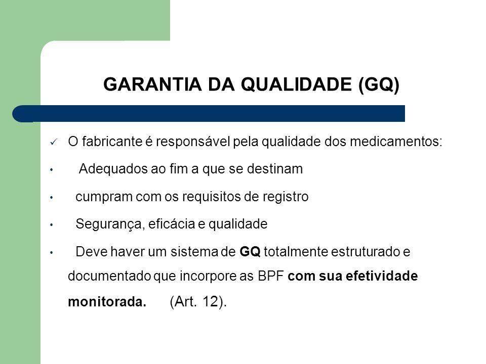 GARANTIA DA QUALIDADE (GQ)
