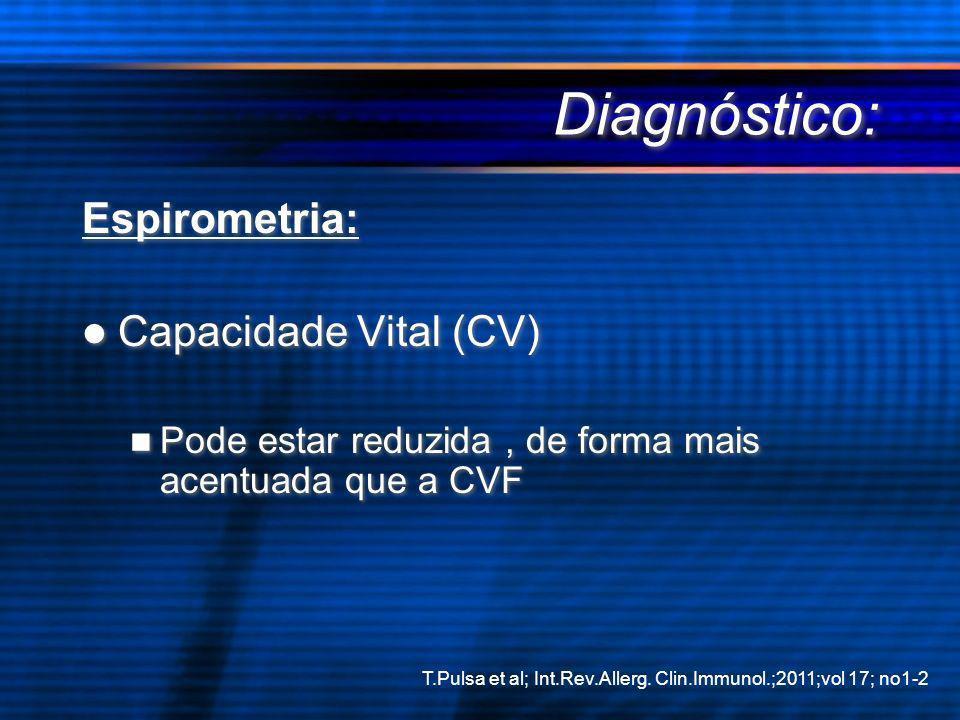Diagnóstico: Espirometria: Capacidade Vital (CV)