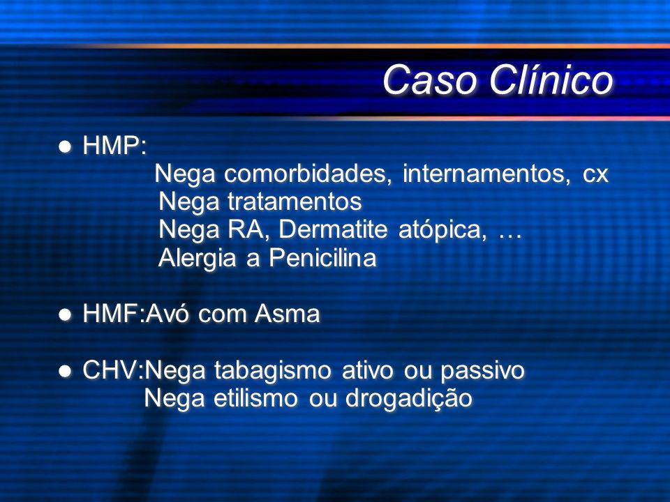 Caso Clínico HMP: Nega comorbidades, internamentos, cx
