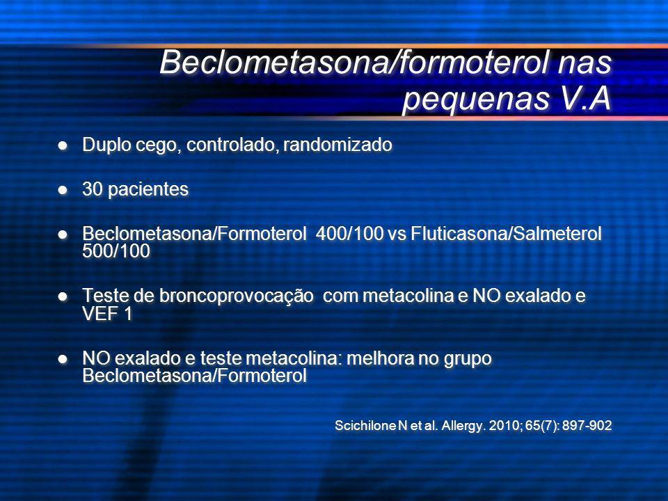 Beclometasona/formoterol nas pequenas V.A