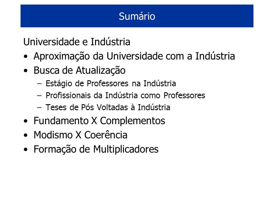 Universidade e Indústria Aproximação da Universidade com a Indústria