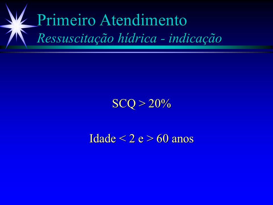 Primeiro Atendimento Ressuscitação hídrica - indicação