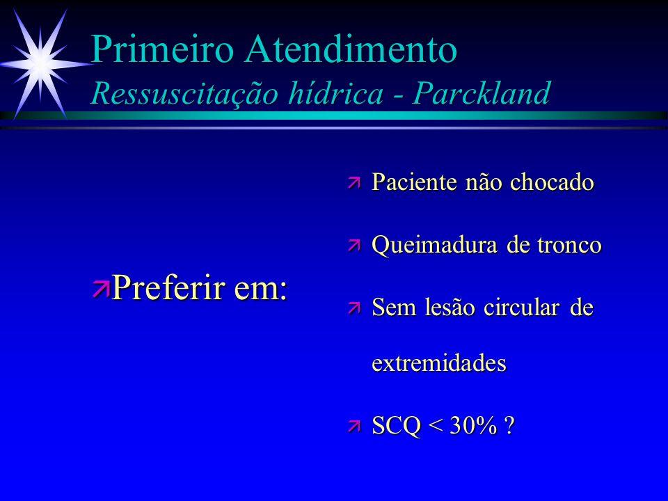 Primeiro Atendimento Ressuscitação hídrica - Parckland