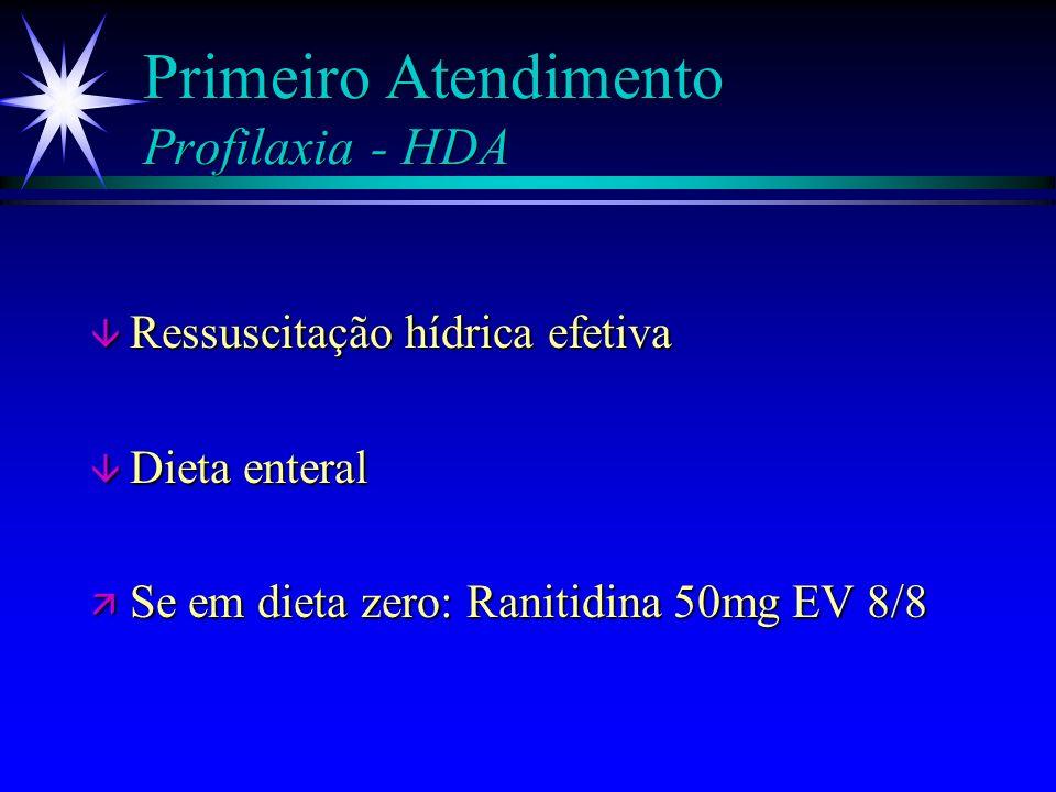 Primeiro Atendimento Profilaxia - HDA