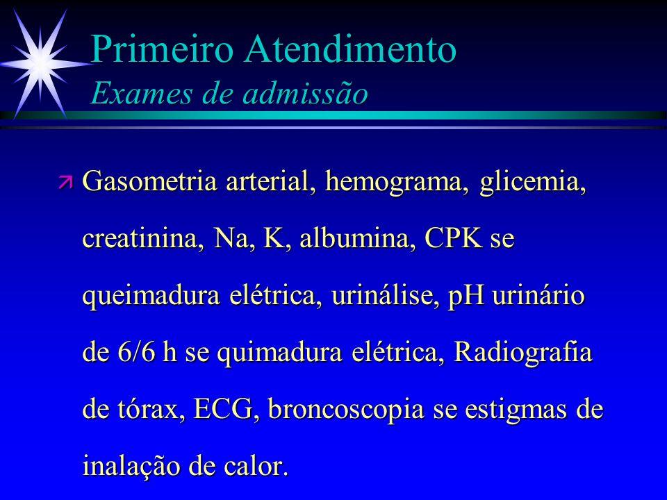 Primeiro Atendimento Exames de admissão