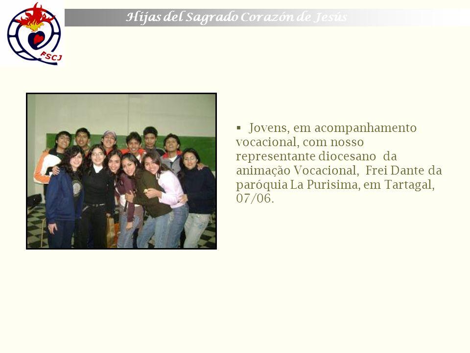 Jovens, em acompanhamento vocacional, com nosso representante diocesano da animação Vocacional, Frei Dante da paróquia La Purisima, em Tartagal, 07/06.