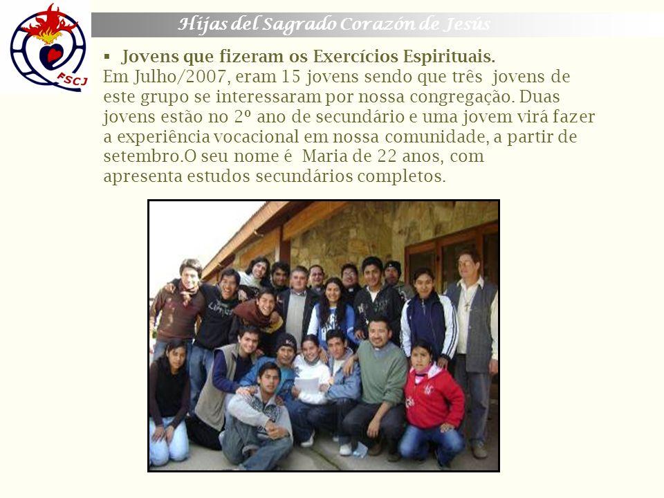 Jovens que fizeram os Exercícios Espirituais