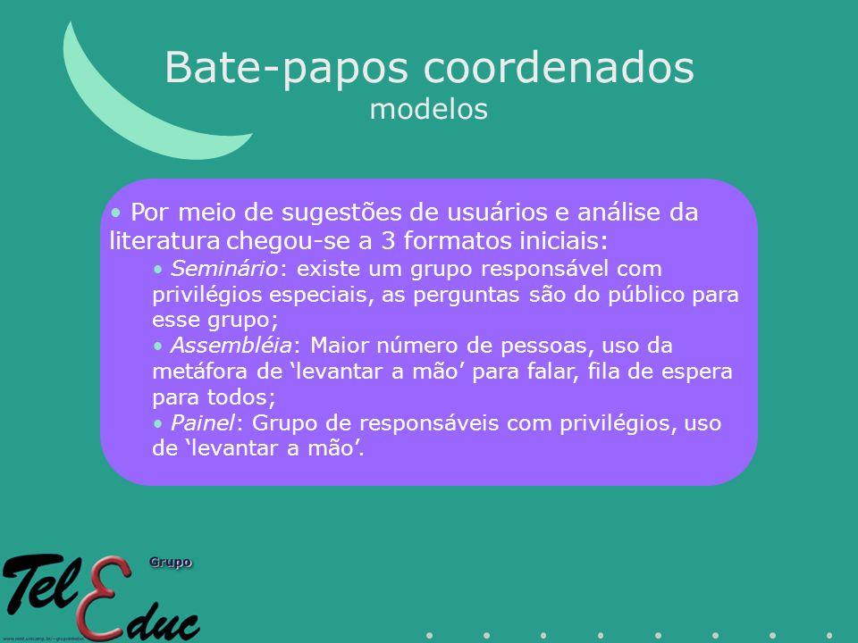 Bate-papos coordenados modelos