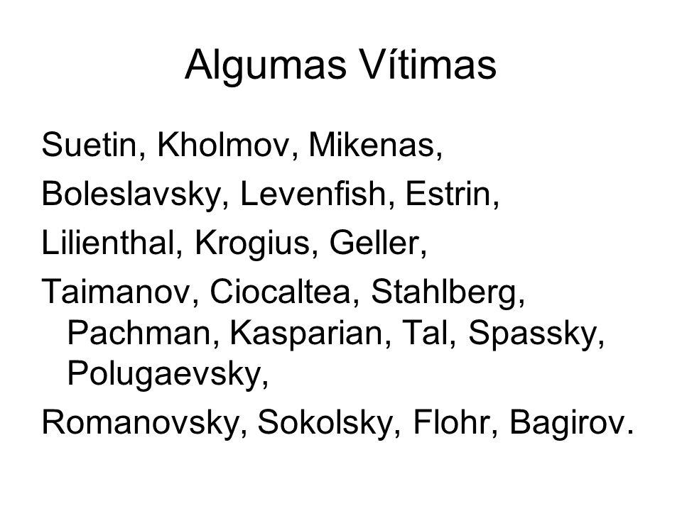 Algumas Vítimas Suetin, Kholmov, Mikenas,
