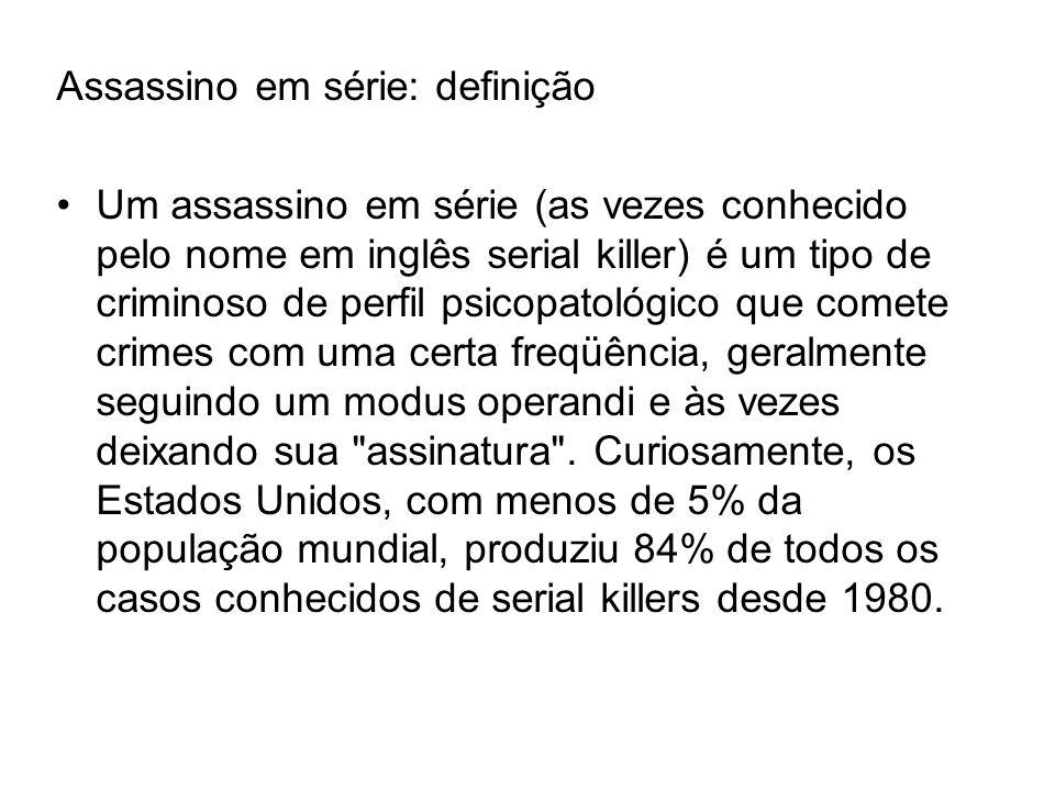 Assassino em série: definição