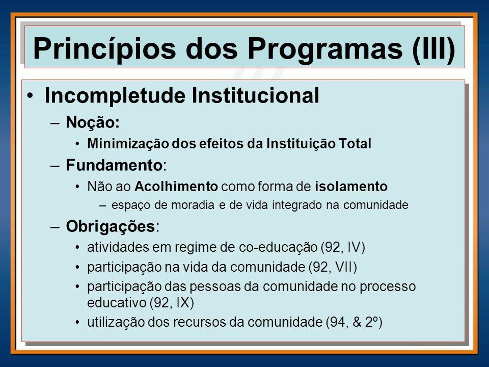 Princípios dos Programas (III)