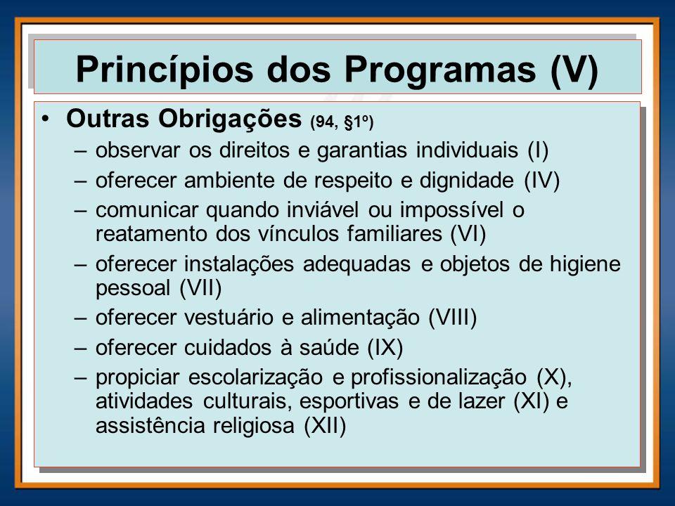 Princípios dos Programas (V)