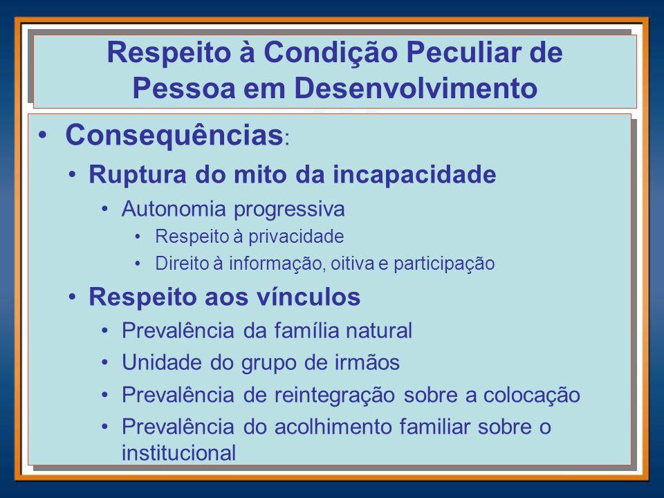 Respeito à Condição Peculiar de Pessoa em Desenvolvimento