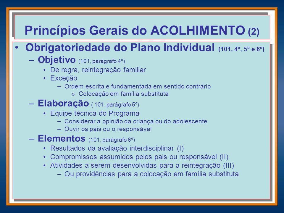 Princípios Gerais do ACOLHIMENTO (2)