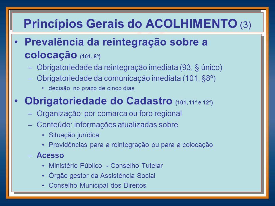 Princípios Gerais do ACOLHIMENTO (3)