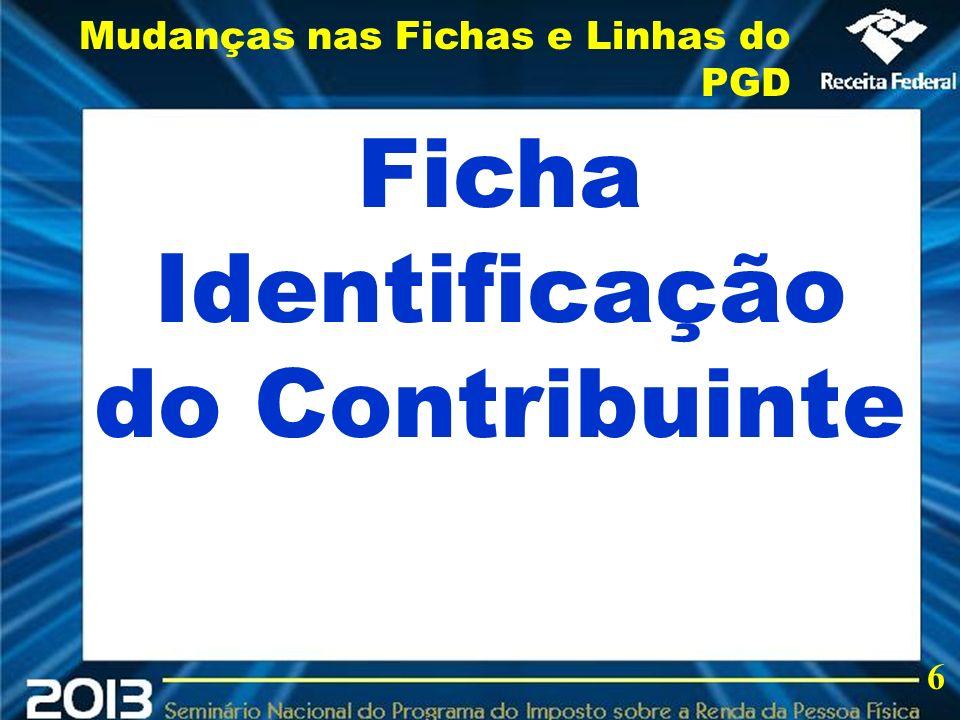 Ficha Identificação do Contribuinte