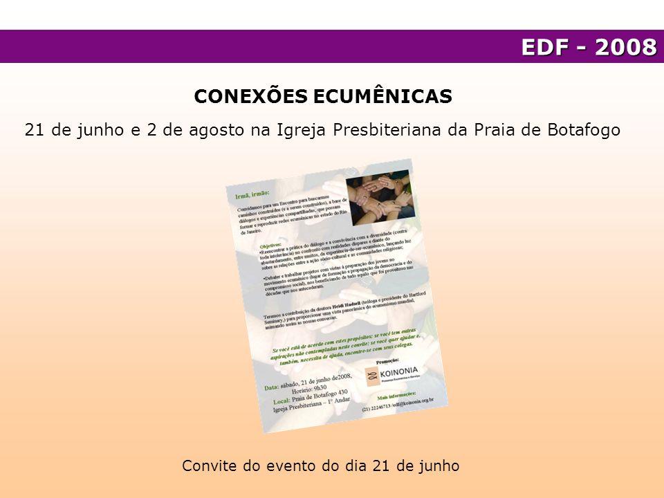 EDF - 2008 CONEXÕES ECUMÊNICAS