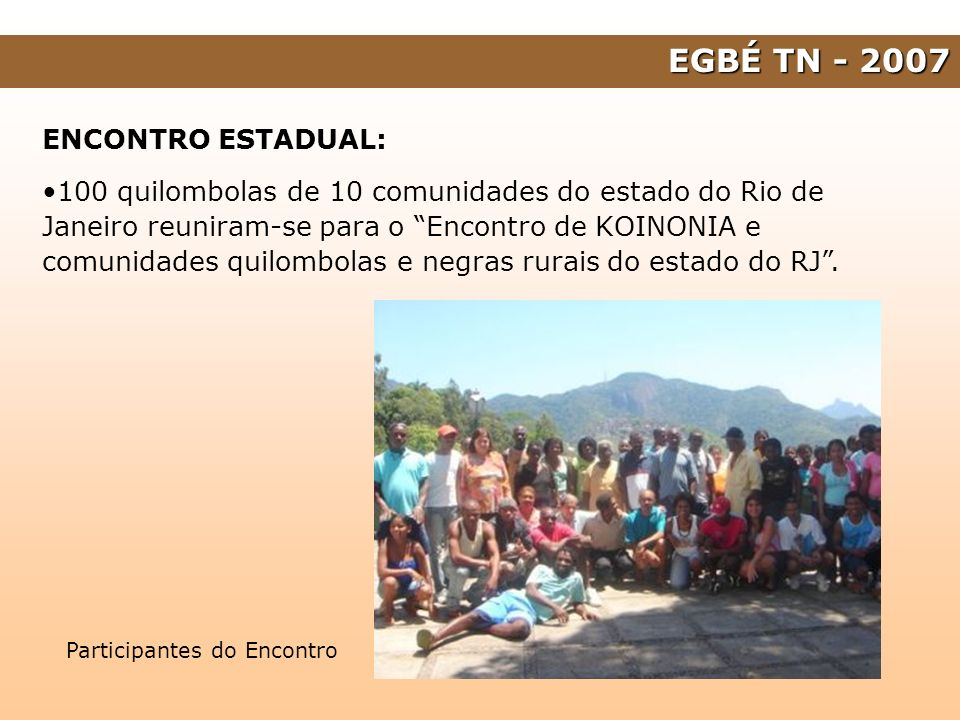 EGBÉ TN - 2007 ENCONTRO ESTADUAL: