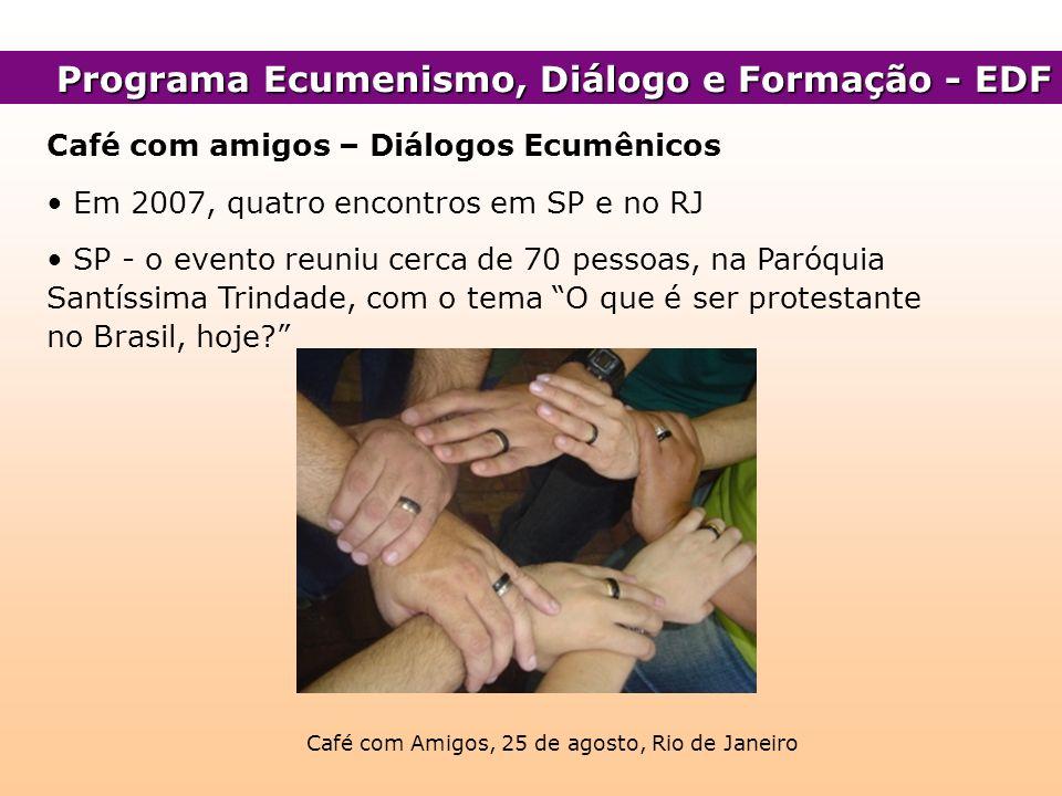 Café com Amigos, 25 de agosto, Rio de Janeiro