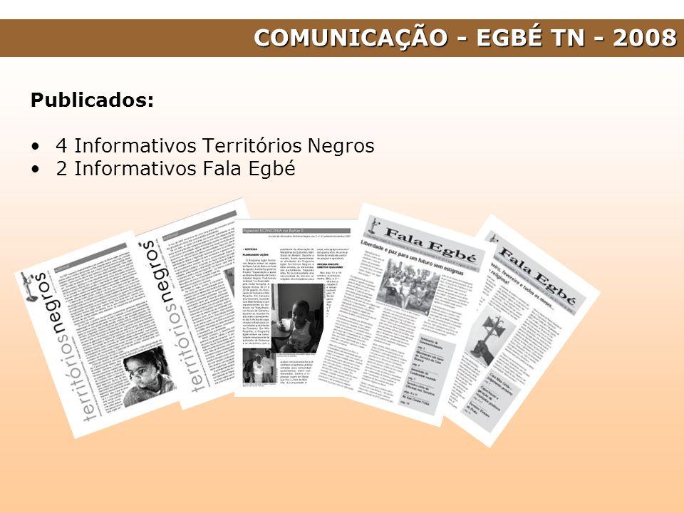 COMUNICAÇÃO - EGBÉ TN - 2008 Publicados: