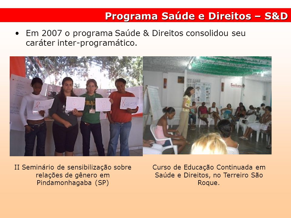 Programa Saúde e Direitos – S&D