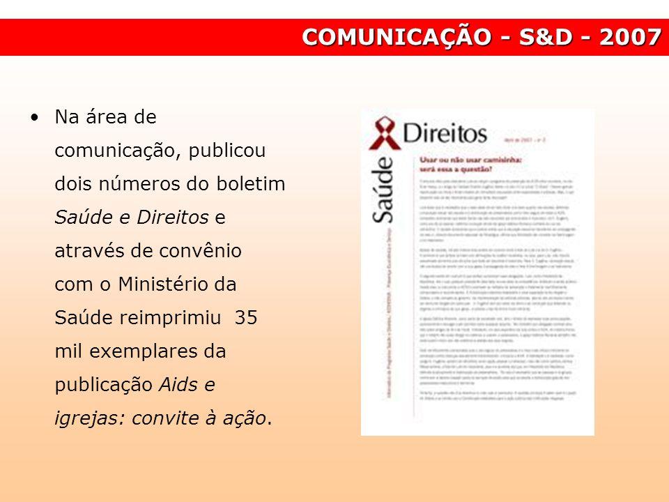 COMUNICAÇÃO - S&D - 2007