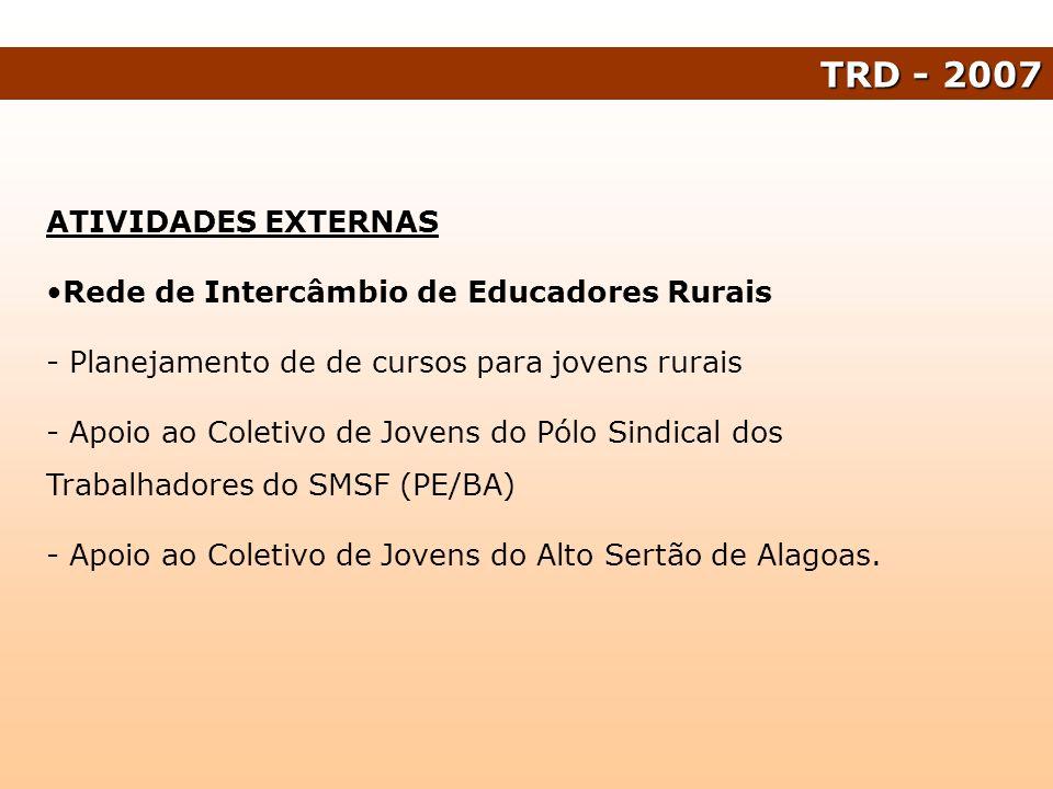 TRD - 2007 ATIVIDADES EXTERNAS