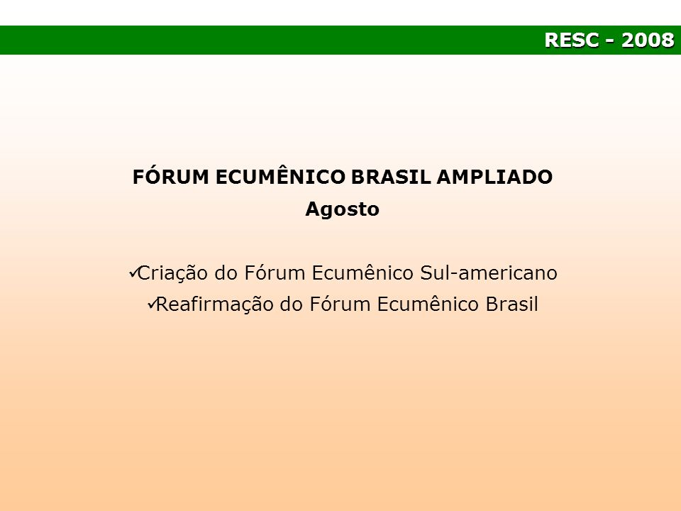 FÓRUM ECUMÊNICO BRASIL AMPLIADO