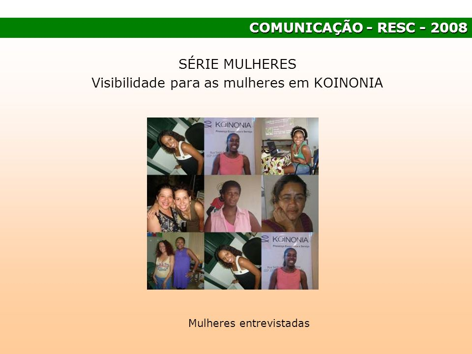 Visibilidade para as mulheres em KOINONIA