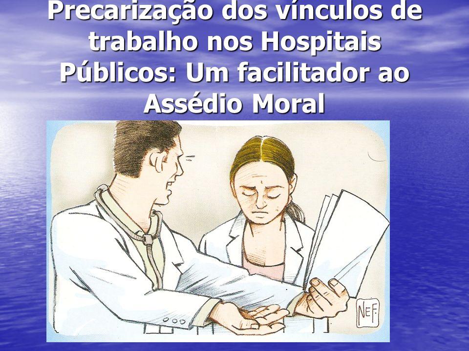 Precarização dos vínculos de trabalho nos Hospitais Públicos: Um facilitador ao Assédio Moral