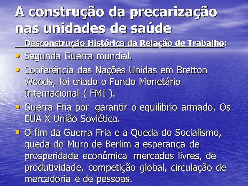 A construção da precarização nas unidades de saúde