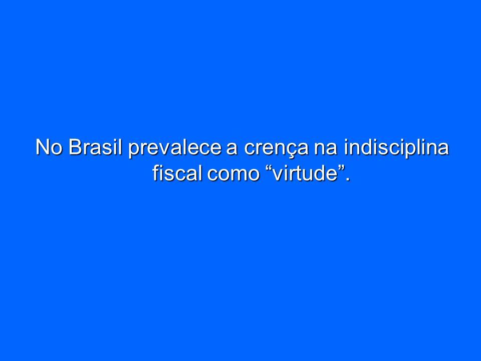 No Brasil prevalece a crença na indisciplina fiscal como virtude .