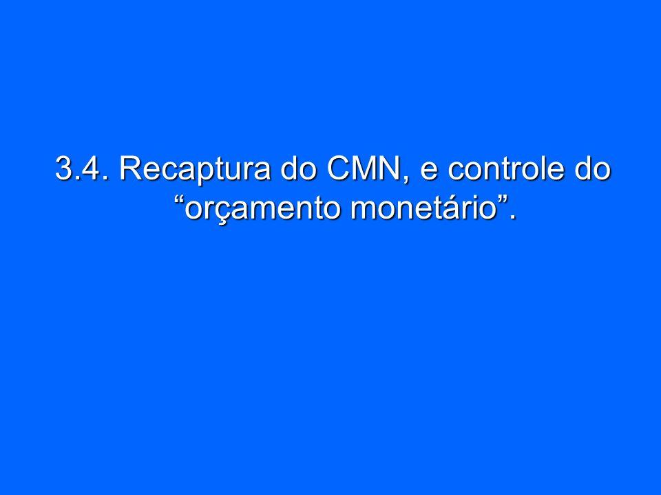 3.4. Recaptura do CMN, e controle do orçamento monetário .