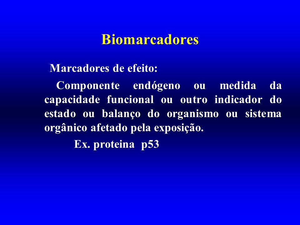 Biomarcadores Marcadores de efeito:
