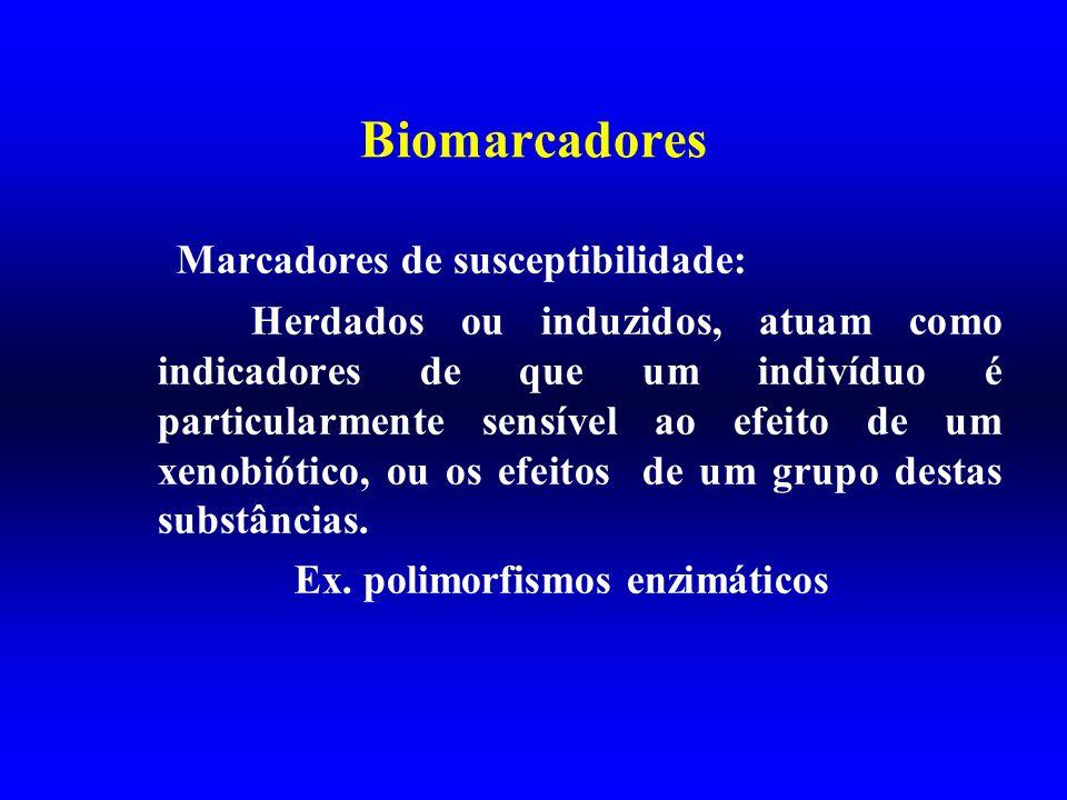 Biomarcadores Marcadores de susceptibilidade: