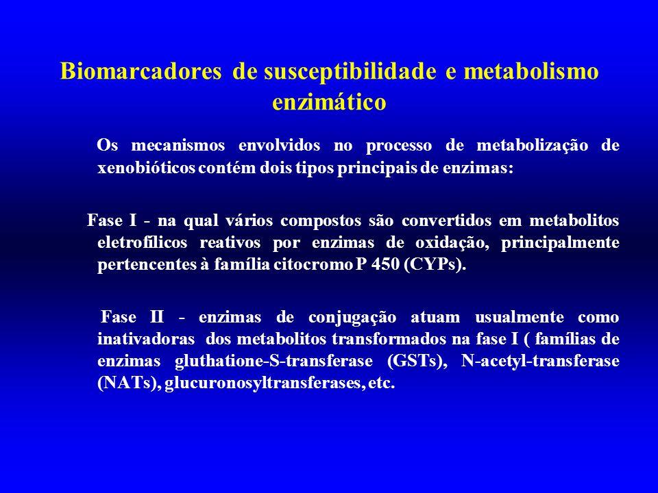 Biomarcadores de susceptibilidade e metabolismo enzimático