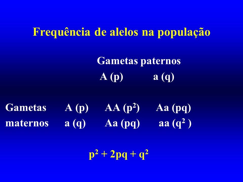 Frequência de alelos na população