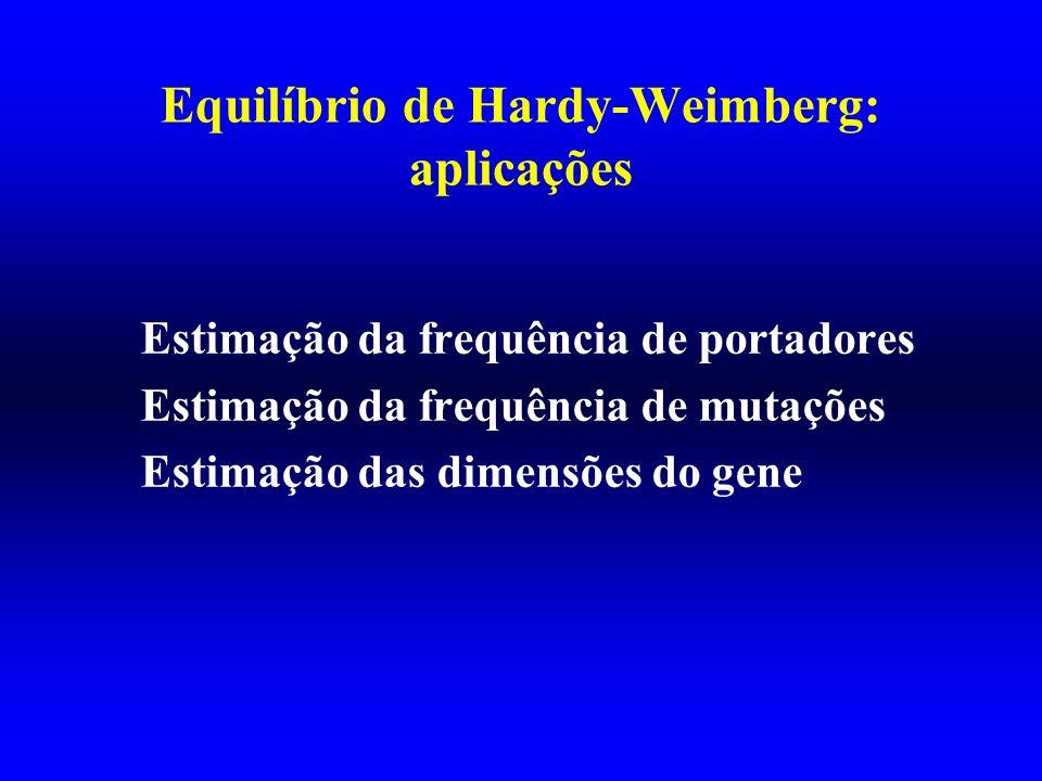 Equilíbrio de Hardy-Weimberg: aplicações